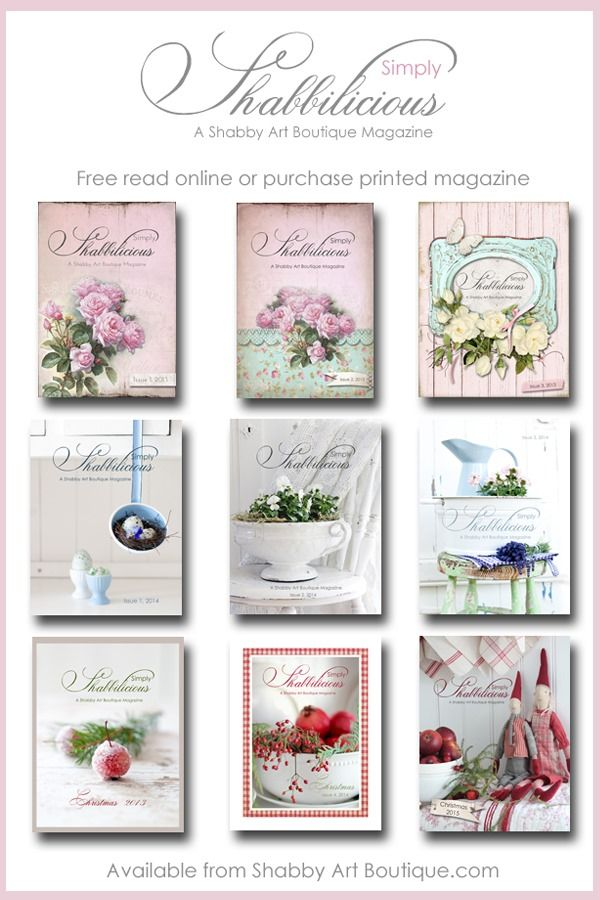 Simply Shabbilicious Magazine from Shabby Art Boutique. Free read online or purchase printed magazine - shabby, vintage, farmhouse…