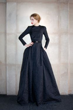 Alessandra Rich, Fall/Winter 2011-12  Looks like the 1800's are back in style!Long Black Dresses, Aseret Stylelagenlook, Fashionista Divas, Alessandrarich, Mourning Dresses, Alessandra Rich, Wonder Pics, Black White, Httpclothing33Sblogspotcom