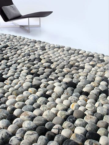 Felted Pebble Modern Rug: modern contemporary furniture design