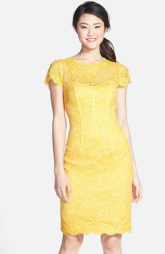 Love the ML Monique Lhuillier Lace Overlay Sheath Dress on Wantering. @gtl_clothing #getthelook http://gtl.clothing