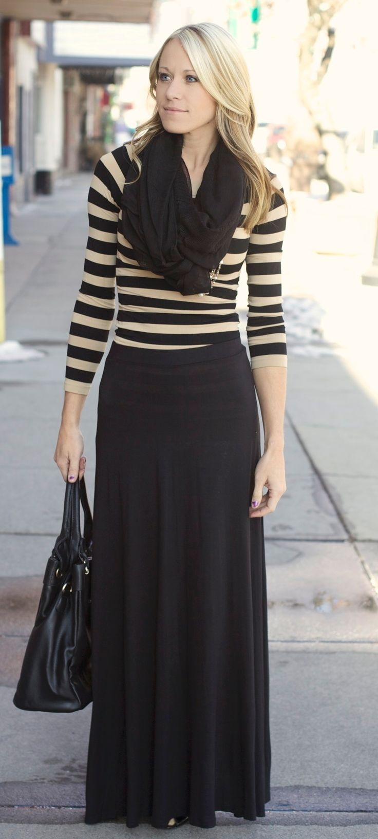 25  best ideas about Black maxi outfits on Pinterest | Black maxi ...