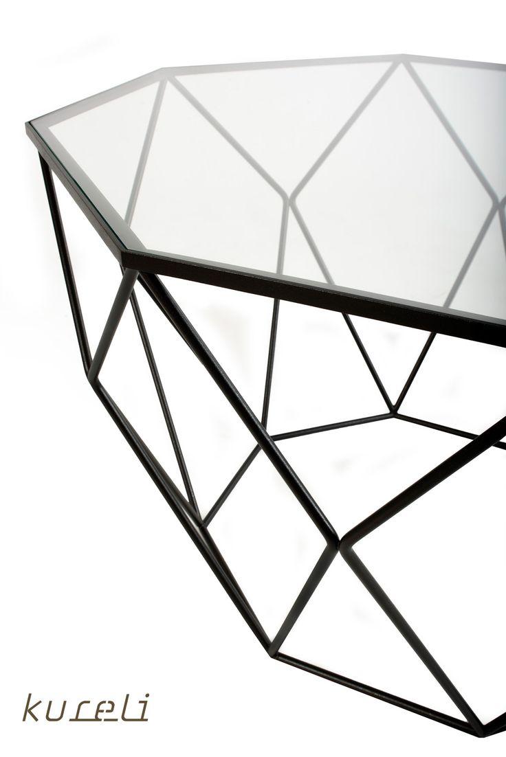 More at kureliDesign.etsy.com #table #steelTable #etsy #coffeeTable #glass #steel #kureli