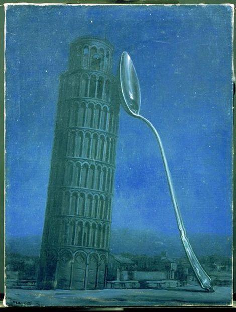 René Magritte, Night in Pisa, 1953 on ArtStack #rene-magritte #art