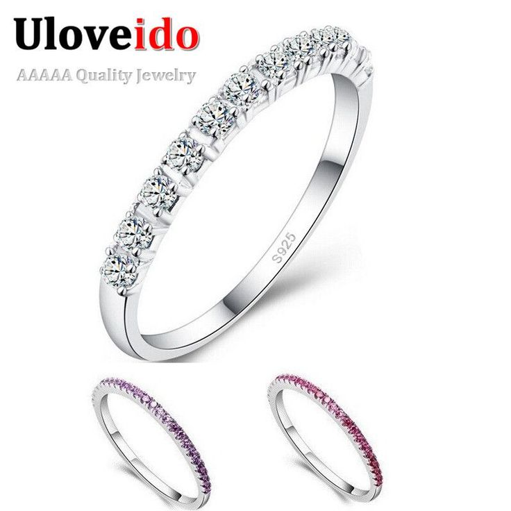 Wedding Rings for Women Mystique Girls Purple Red Simulated Diamond Ring Jewelry