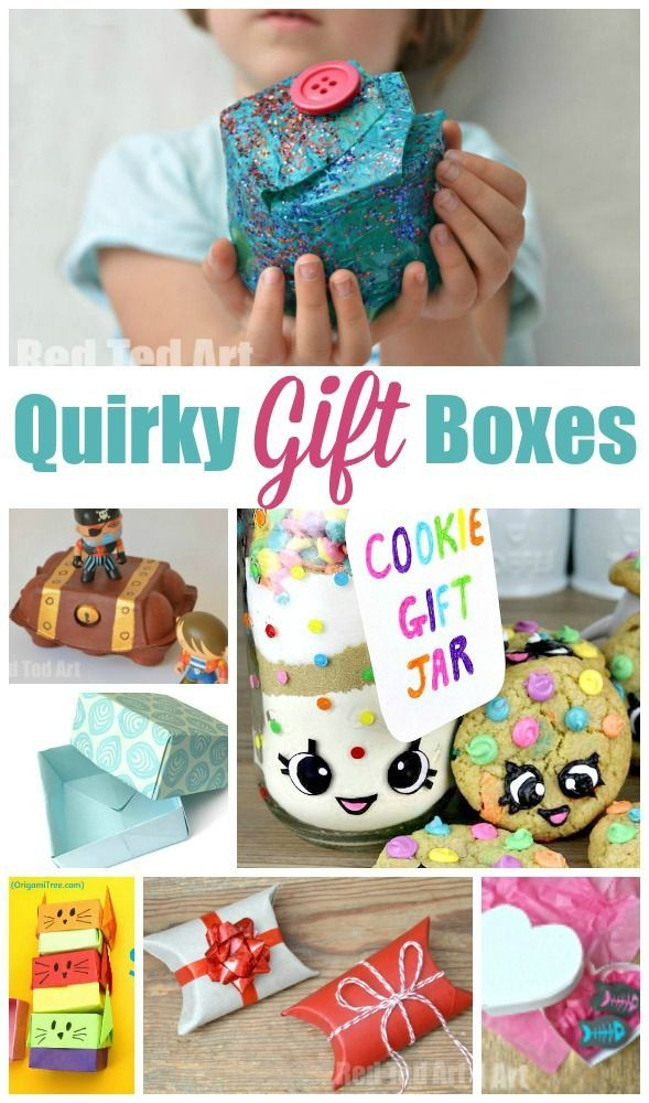 Over 15 Quirky Gift Box ideas for kids to make and enjoy! Great for individual…