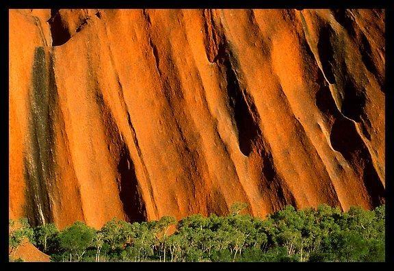 Walls of Ayers Rock. Uluru-Kata Tjuta National Park, Northern Territories, Australia.