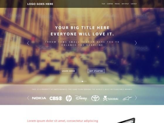 Landing Page Template PSD Freebie Giveaway | TheFreebieBay.com
