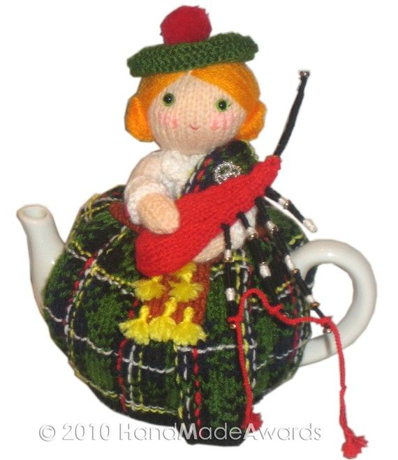 The Girl from Scotland Tea Cosy knitting pattern Pdf $4.50 on Etsy at http://www.etsy.com/listing/64920988/the-girl-from-scotland-tea-cosy-pdf