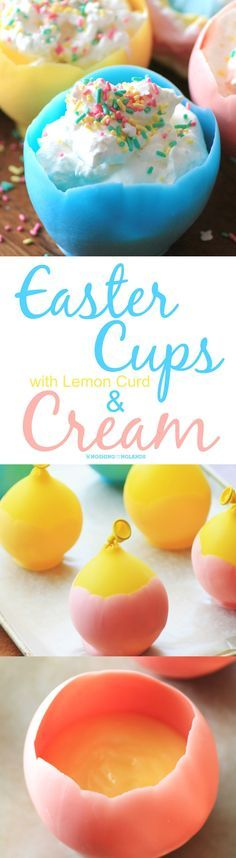 Easter Cups with Lemon Curd and Cream via @tnoland
