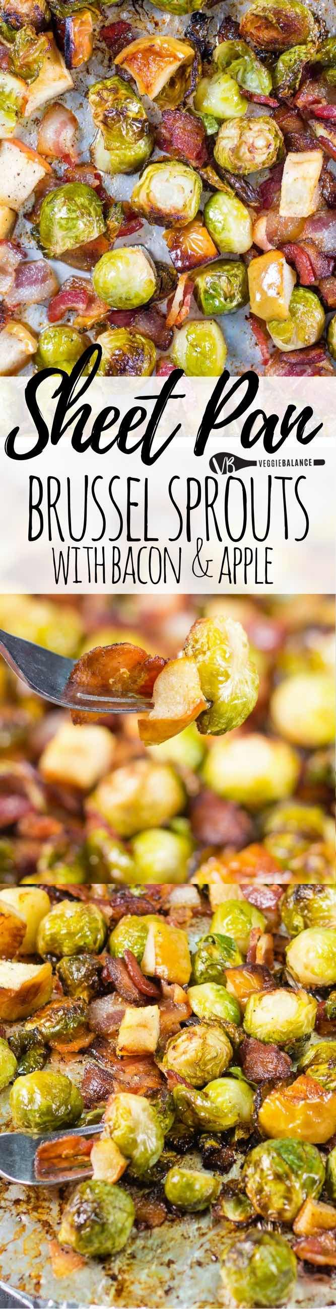 Roasted Brussel Sprouts with Bacon, Apples - Veggie Balance