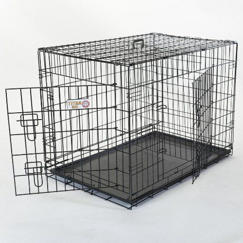 42 inch Double Door Folding Dog Crate By Majestic Pet Products Large * For more information, visit image link.