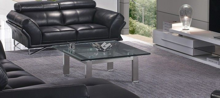 Crystal G863 Glass Coffee Table. Simplicity at its finest, this Crystal Glass Coffee Table plays with geometric angles and exquisite textural contrast. This coffee table is available in square shape with a size of 100cm x 100cm.  A crystal clear tabletop is constructed with our unique, tempered 19mm glass that is five times stronger than normal glass.
