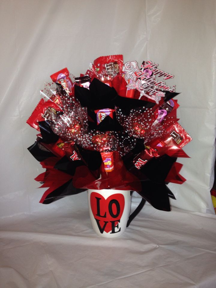 Large coffee cup candy bouquet candybouquetsbyKristen ...