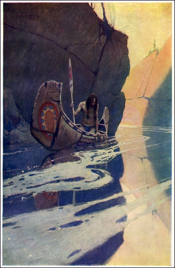 'In the Crystal Depths' - NC Wyeth (1902) ...the Indian In His Solitude