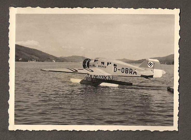Junkers W34, J2745, Ju46hi, D-OBRA, HANSA FLUGDIENST, 'Bremen' summer 1939 in Pörtschach, Lake Wörther, Austria