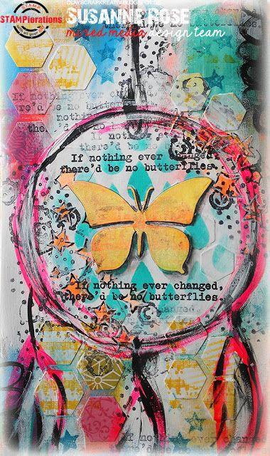 Susanne Rose Designs: Dreamcatcher -  Art Journal Page with STAMPloratio...