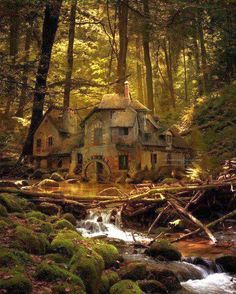Old mill in the black forest of Germany -- I swear the vast majority of fairytale illustrations are based on German sites! So enchanting