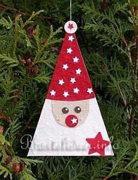 Basteln mit Kindern - Weihnachtsbasteln - Baumanhänger - Nikolaus