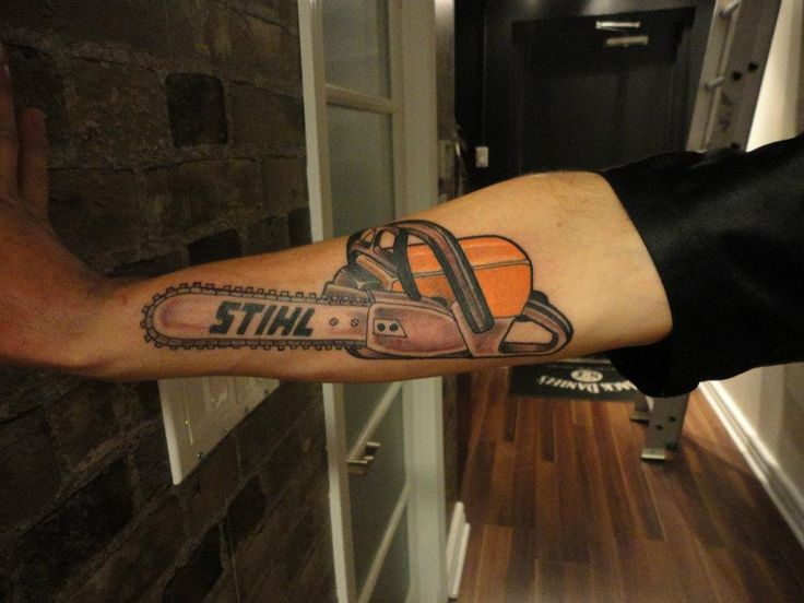 Stihl Chainsaw Done By Andrew I Wold Not Do This Though Tattoo Tattoos For Kids Tattoos Tattoos For Guys