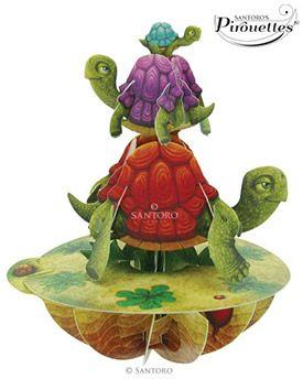 Balancing Tortoises 3D Pirouette | 3D Cards | Santoro London