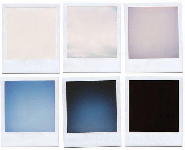 Series of blank polaroids
