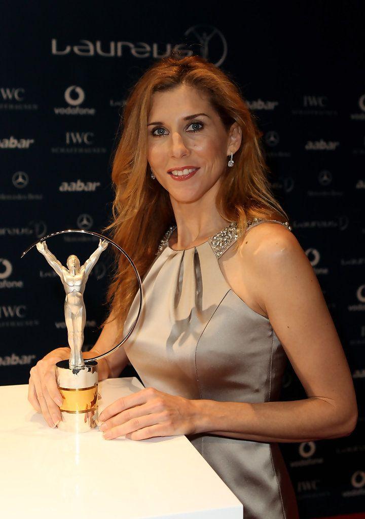 Monica Seles - Arrivals-Laureus World Sports Awards Abu Dhabi 2010