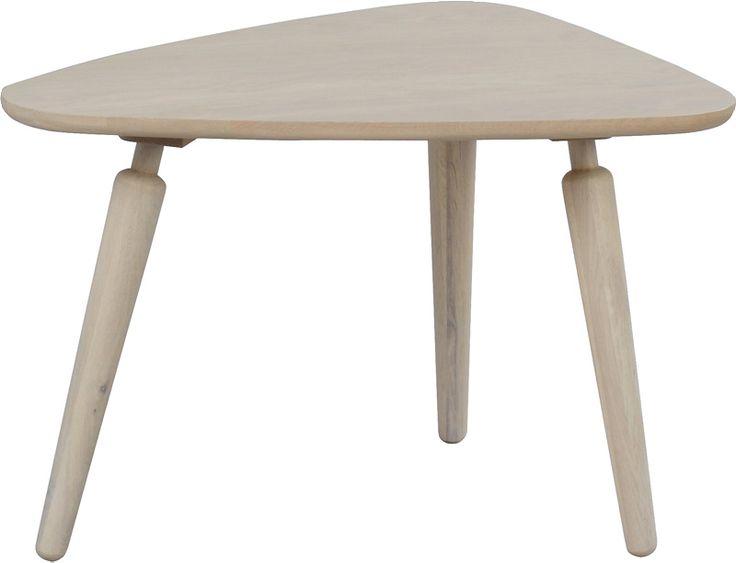 Bord - stort utvalg til din stueCoffee sofabord triangel 67cmwhitewash h 45 cm