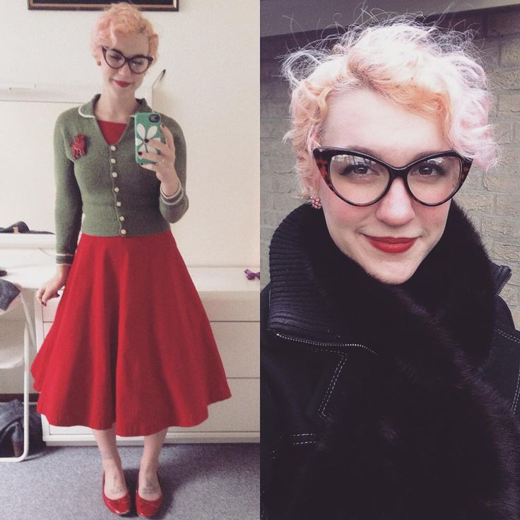 """51 Likes, 4 Comments - Madeleine (@ladyengelina) on Instagram: """"Got to leave work early today! Happy #pinupchristmas!! #fashion #christmas #selfie #pinupstyle…"""""""