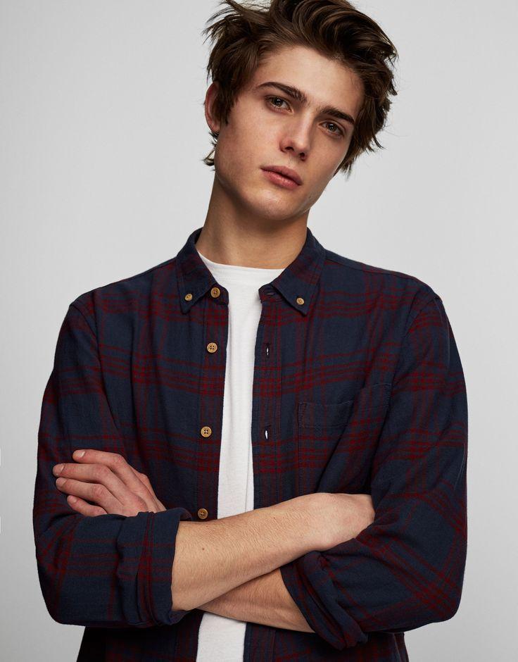 Camicia a quadri - Camicie - Abbigliamento - Uomo - PULL&BEAR Italia 19,99 euro