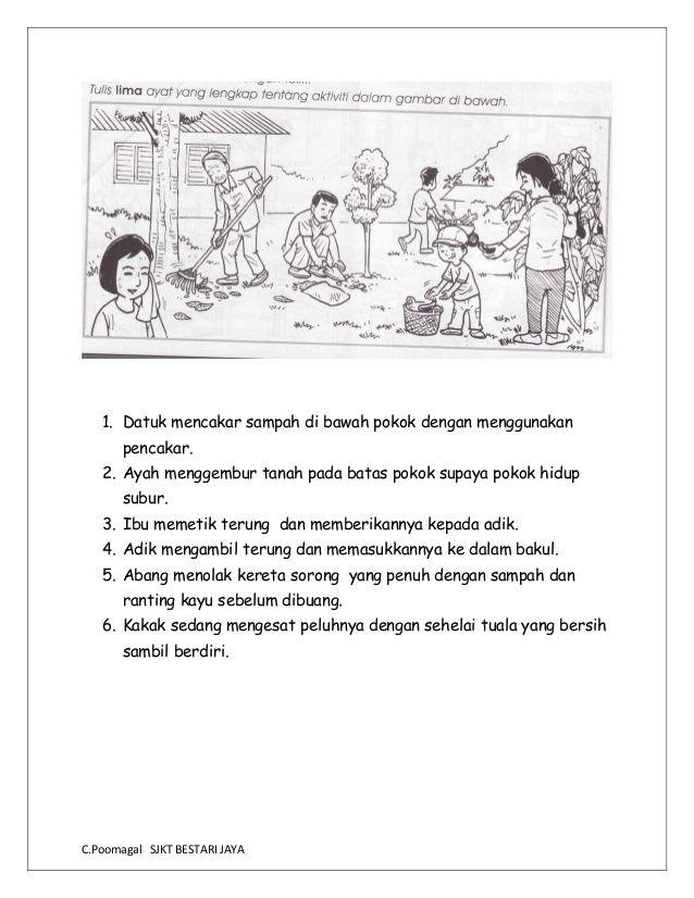 Bina Ayat Berdasarkan Gambar In 2020 Malay Language Grammar And Vocabulary Picture Composition