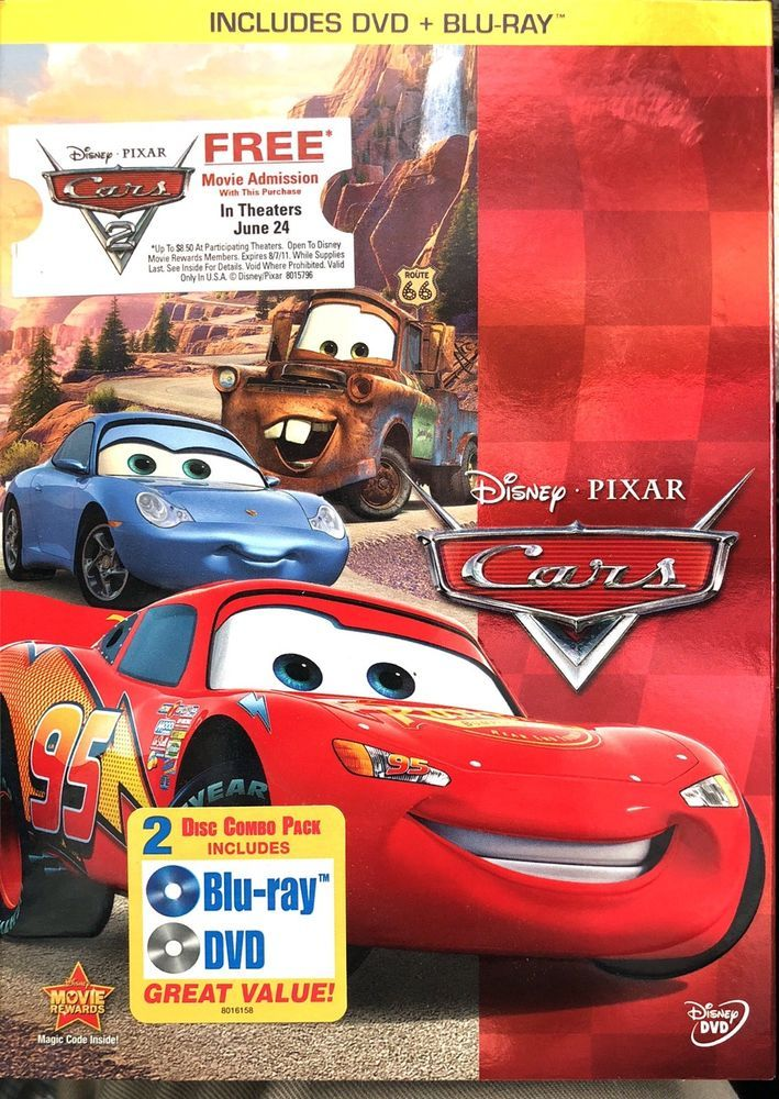Cars Blu Ray Dvd Combo In Dvd Packaging Ebay Movie Rewards