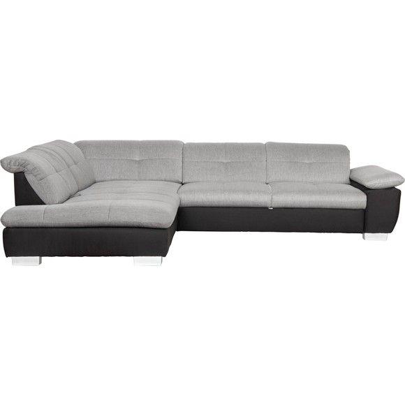 WOHNLANDSCHAFT in Anthrazit, Grau, Schwarz, Weiß Textil - roller de wohnzimmer polstermoebel