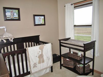 neutral brown and cream nursery.