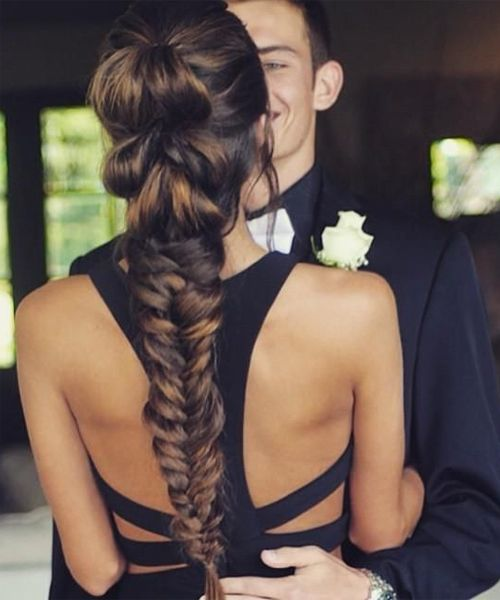 Stunning Pull Through Fishtail Braided Long Hairstyles 2016