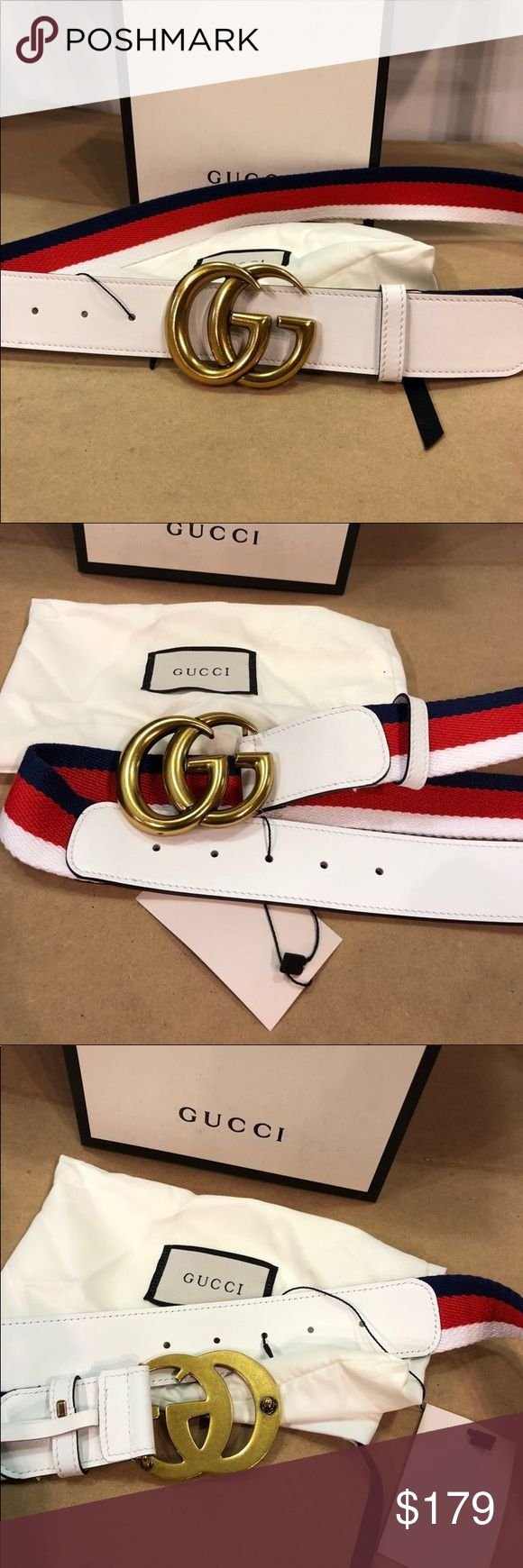 Brand New Gucci Belt Blue Red White 100% Authentic Gucci Belt!  Comes with box dust bag and original tags  Easy sizing! Just choose the size u wear in jeans  Respectable offers considered. Thank you Gucci Accessories Belts