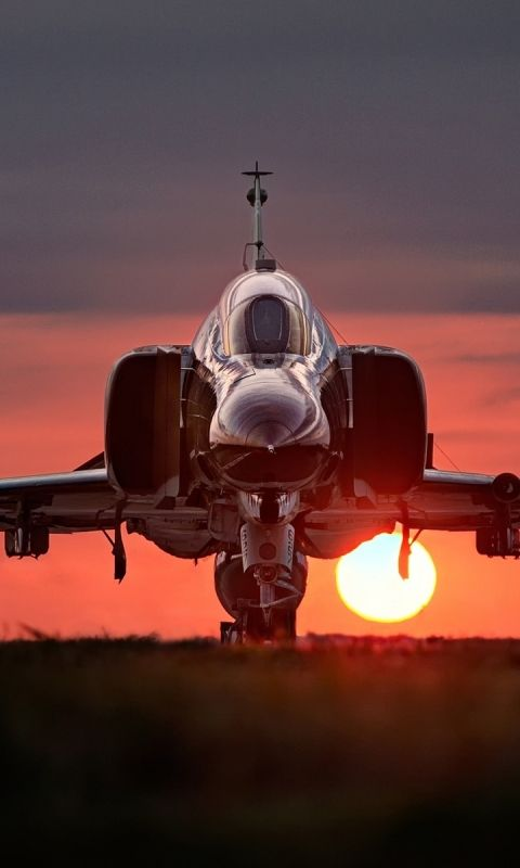 Military McDonnell Douglas F-4 Phantom II Jet Fighters Airplane Mobile Wallpaper