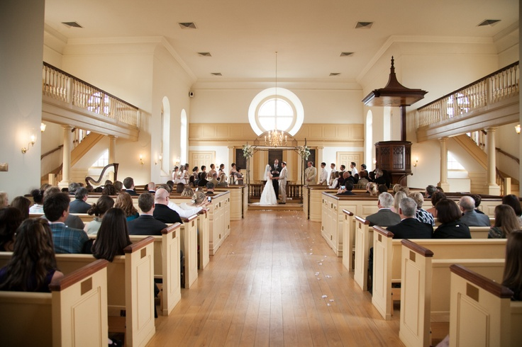 Gorgeous ceremony venue - the chapel at The American Village in Montevallo, Alabama.