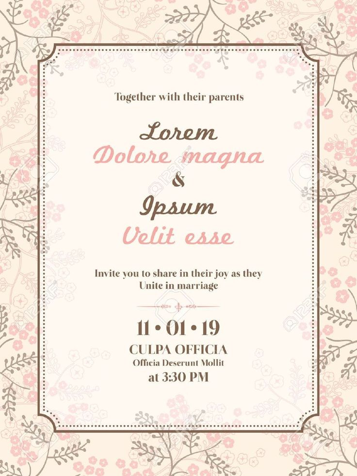 17 Best images about Invitations card template on
