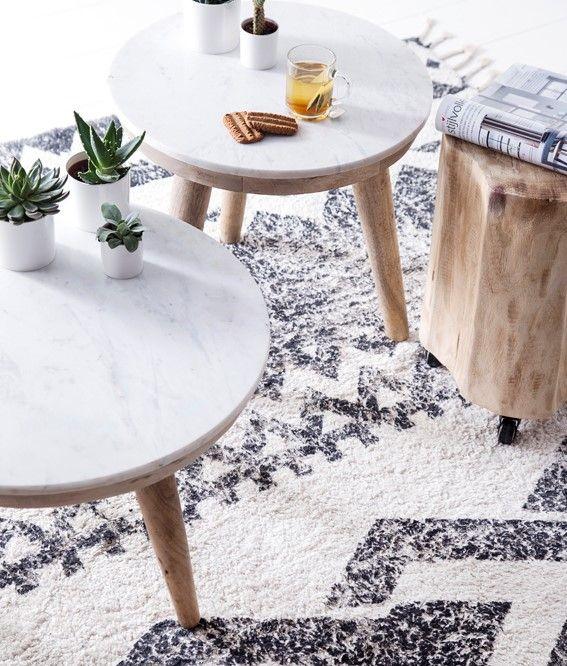 Marmer Is Een Eindeloze Trend Salontafel Thuisdecoratie Bijzettafeltjes