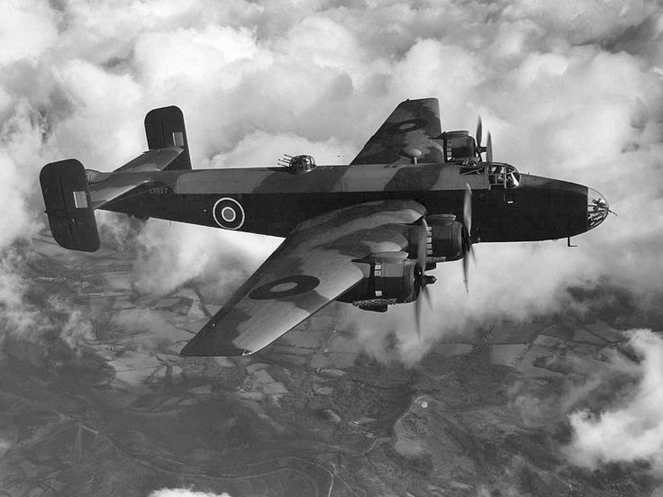WWII 1939 - Royal Air Force (RAF) Handley Page Halifax (Four-Engined Piston Heavy Bomber)