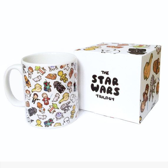 Chibi Wars Pattern ~ Star Wars ~ Mug and Box Set