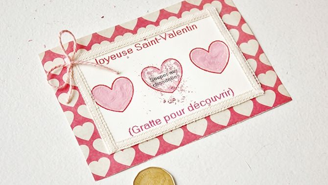 diy st valentin billet de loterie gratter photos. Black Bedroom Furniture Sets. Home Design Ideas