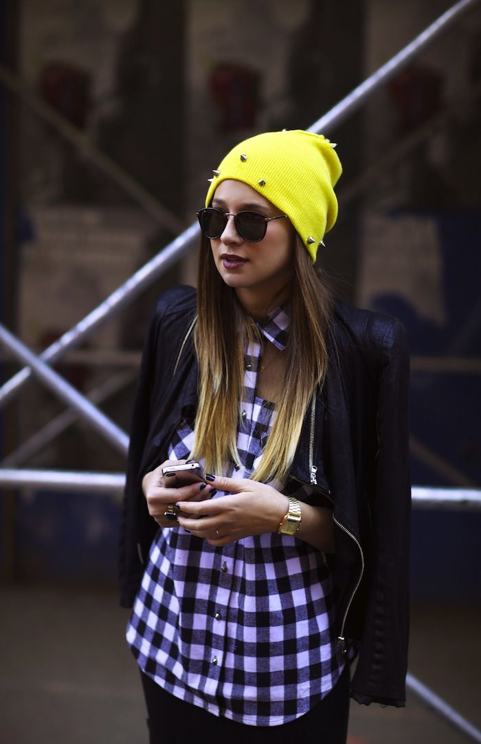 WE WORE WHAT? www.gypsumstyle.com Jaded Spike Beanie   Head Case   Pinterest   Yellow beanie and ...