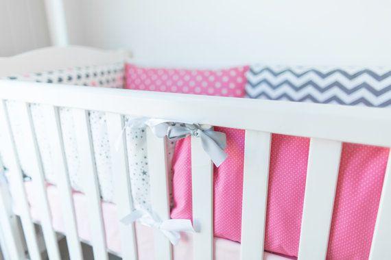 Crib bumper baby bedding cot bumper baby bumper by KinderlyStore