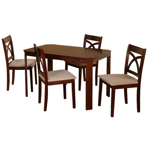 Abigail 5 Piece Dining Set | Small dining table set, Contemporary dining sets, 5 piece dining set