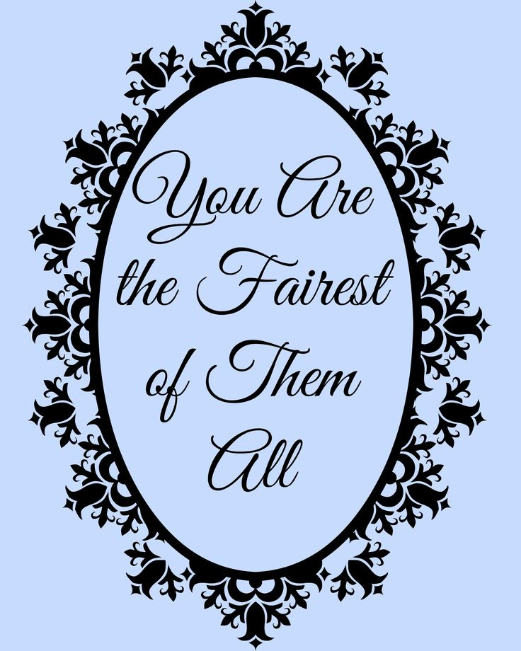 You are the Fairest of Them All free printable and ideas for a Disney Princess Bridal Shower                                                                                                                                                                                 More