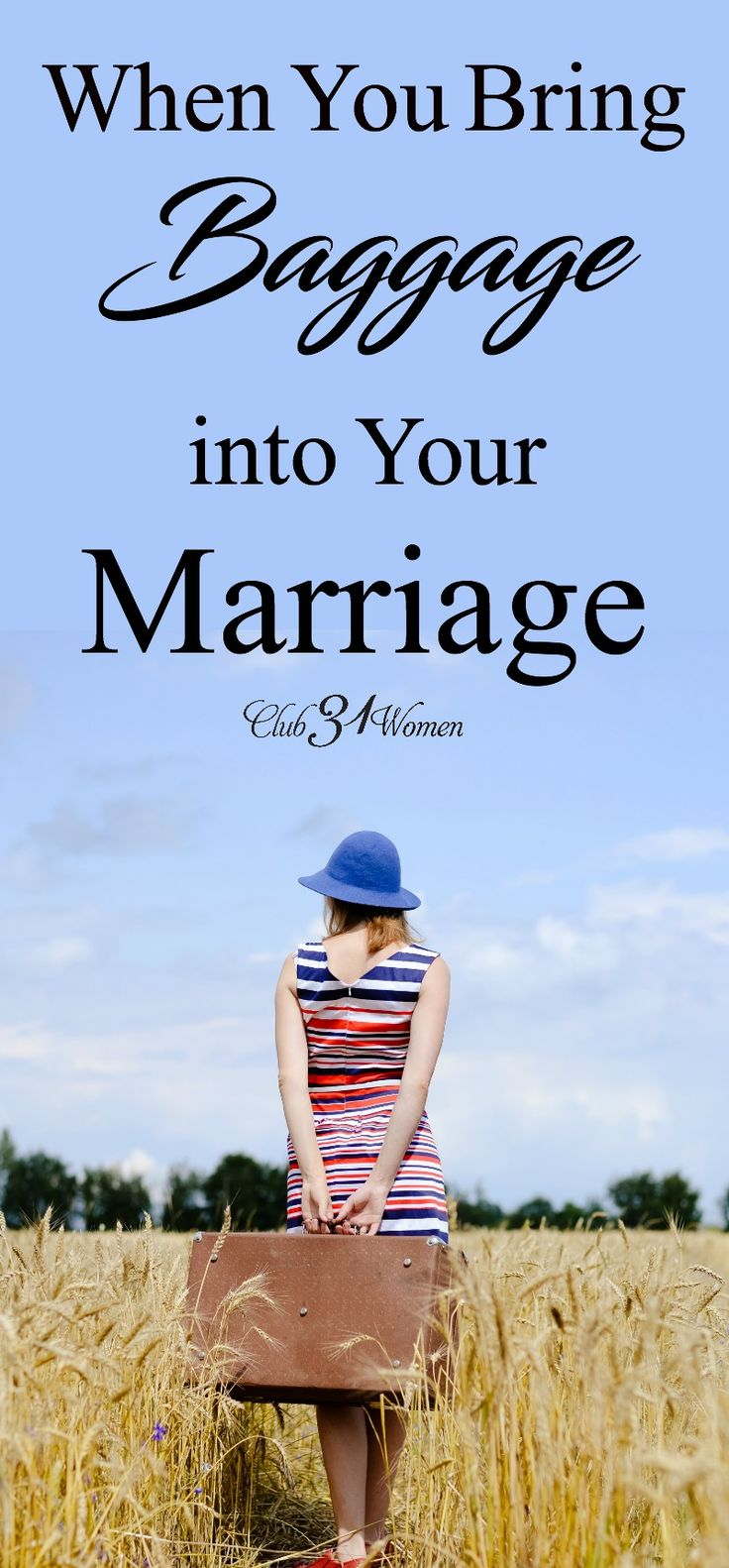 We all bring a little baggage into our marriage. But what if we have a lot and it's controlling what we believe about our spouse?  via @Club31Women