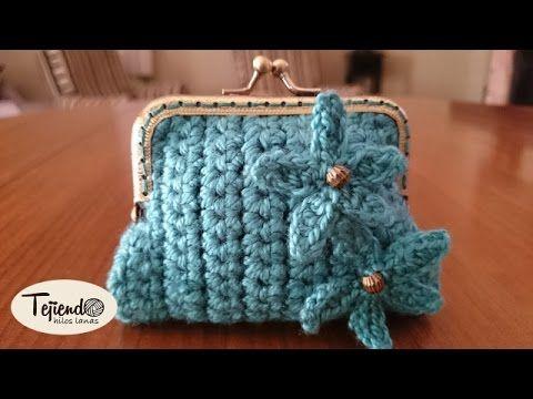 Aprende a tejer monederos super fáciles / paso a paso | Crochet y Dos agujas