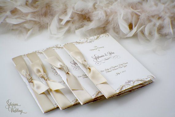 Gorgeous Booklet Wedding Program by SDezigns