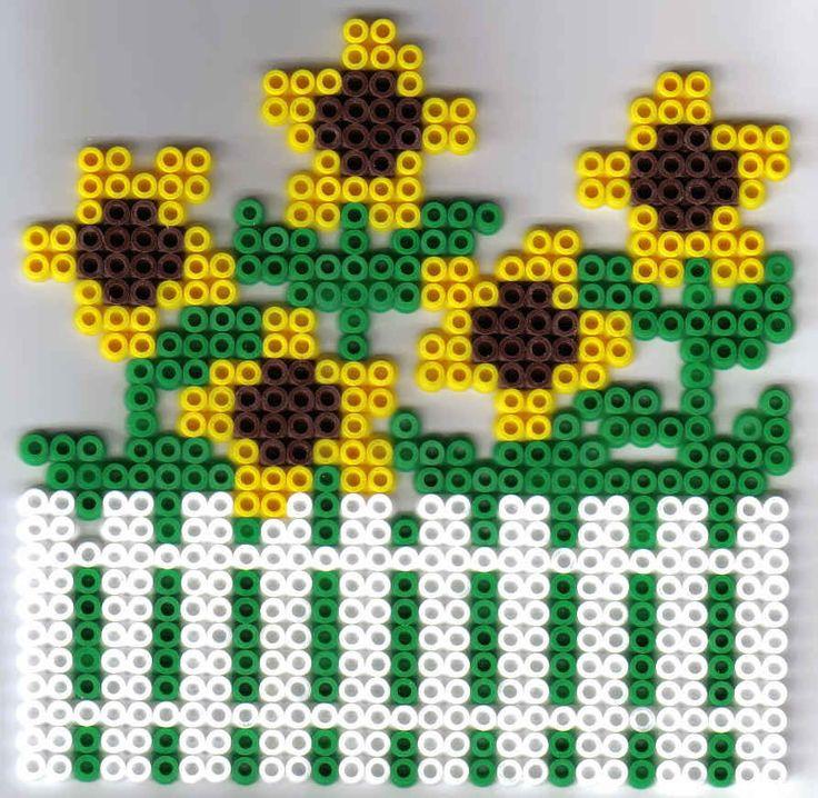 Blume Bügelperlen Flower  perler beads